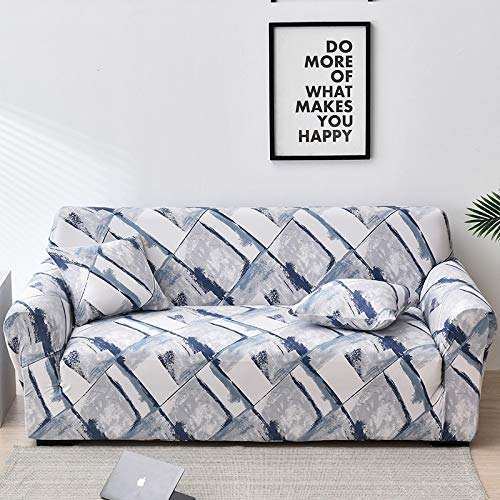 WXQY Peach Blossom Pattern Sofa Cover Stretch Sofa Cover for Living Room Furniture Cover Sofa Cover all-Inclusive Sofa Cover A10 1 Seater