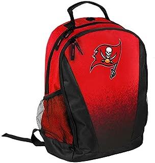 FOCO NFL Tampa Bay Buccaneers Logo Gradient Print Primetime Deluxe Backpack, Team Color, Standard, One Size