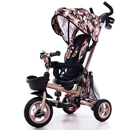 Best Price Zjnhl Children's Fun/Children Tricycle First Bike Stroller 3 In1 Foldable WiRemovable Pus...