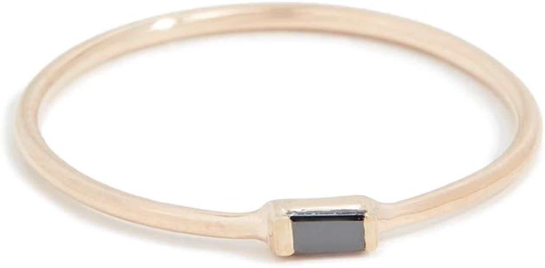 Zoe Chicco Women's 14k Black Baguette Stacking Ring
