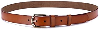 Student Belt with Alloy Buckle Ladies Casual Leather Belt. (Color : Brown)