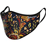 SMMASH Mundschutz Maske Wiederverwendbar, Hochwertiges Gesichtsmaske Waschbar, Multifunktional Trainingsmaske für Radfahren, Laufen, Staubschutzmaske für Damen, Herren (L/XL, Flowers)