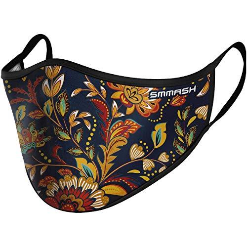 SMMASH Mundschutz Maske Wiederverwendbar, Hochwertiges Gesichtsmaske Waschbar, Multifunktional Trainingsmaske für Radfahren, Laufen, Staubschutzmaske für Damen, Herren, Größe S/M Product Name