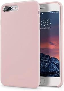 Segoi iPhone 8 Plus Case/iPhone 7 Plus Case, Liquid Silicone Gel Rubber Case Soft Microfiber Cloth Lining Cushion Compatible with iPhone 8 Plus 2017/ iPhone 7 Plus 2016 - Pink Sand
