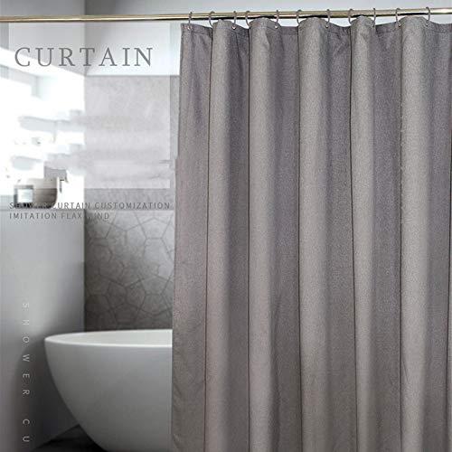 XTUK Home Decor Duschvorhang Leinen Wasserdichter Badvorhang Verdicken Bad Duschvorhang Toilettenvorhang Verschiedene Größen mit Rostschutz-Ösen erhältlich 280 * 200CM