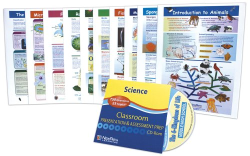 NewPath Learning Science Six Kingdoms of Life Visual Learning Guide Set, Grade 5-9