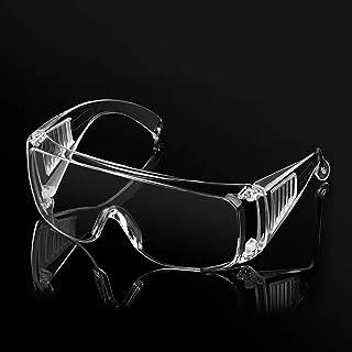 PETLESO保護メガネ、花粉症細菌飛沫対策眼鏡ゴーグル、目を保護 防風防曇防塵、透明