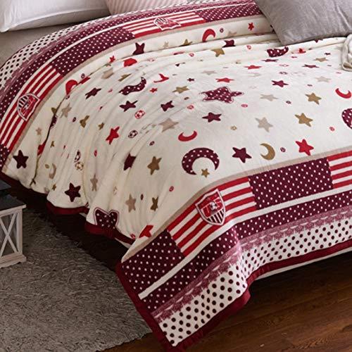 LIANG Flannel filt, mjuk drottning storlek filt, semester kasta blanke, lätt super mjuk och hela säsong varma, för soffa soffa säng och vardagsrum (200 * 230 cm / 78 * 90in)