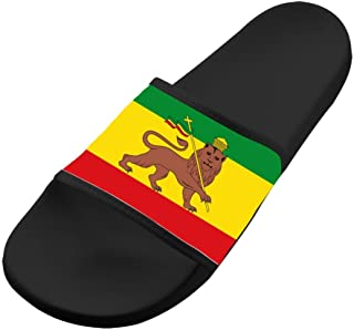 BVVST Jamaica Rasta Lion Fashion Beach Sandals For Men & Women