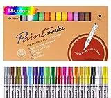 Acrilico Bolígrafos de Pintura de Marcadores Paquete de 12 Impermeable Nunca se Desvanecen Adecuado Para Dibujar DIY Artesanía