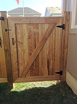 6 Inch T-Strap Heavy Duty Shed Door Hinges Wrought Hardware Rustproof,4 PCS Black Tee Hinge for Wooden Fences,Yard Door,Barn Door Gates