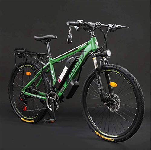 Fangfang Electric Bikes, Adult 26 Inch Electric Mountain Bike, 36V Lithium Battery High-Carbon Steel 27 Speed Electric Bicycle, With LCD Display,E-Bike (Color : D, Size : 60KM)