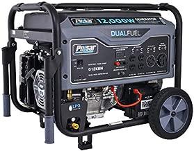 Pulsar G12KBN Heavy Duty Portable Dual Fuel Generator - 9500 Rated Watts & 12000 Peak Watts - Gas & LPG - Electric Start - Transfer Switch & RV Ready - CARB Compliant