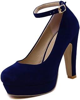 [VALER] パンプス 黒 アンクルストラップ 結婚式 厚底ヒール かわいい 歩きやすい 太めヒール ストラップ チャンキーヒール デイリーに使いやすい 6cmヒール シンプル ピンヒール 美脚 疲れにくい スムース パンプス