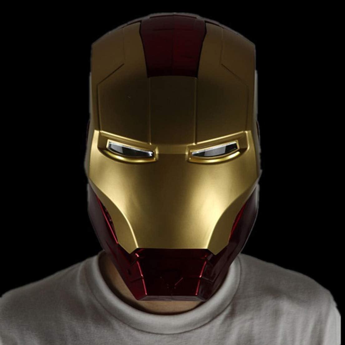 MODRYER Iron Man Helm Avengers 1//1 Toy Modell Maske Wearable und Luminous Spielzeug Film Cosplay Props geeignet f/ür Halloween-Partei-Maskerade,Red