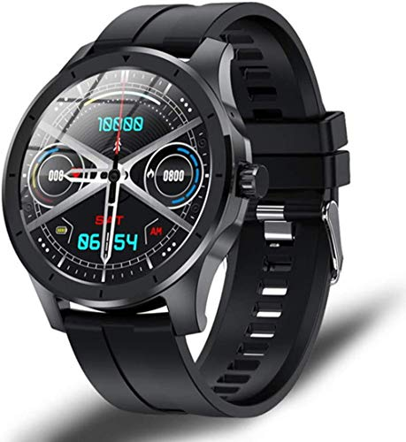 JSL Reloj inteligente de pantalla para mujeres y hombres Full Touch Fitness Tracker reloj inteligente Smartwatch para Android-E