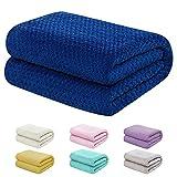 "Baby Blanket for Girls and Boys - 30""x40"" Dark Blue - Toddler Blankets - Kids Throw - Newborn Blankets - Soft Lightweight Fleece for Bed, Crib, Stroller"