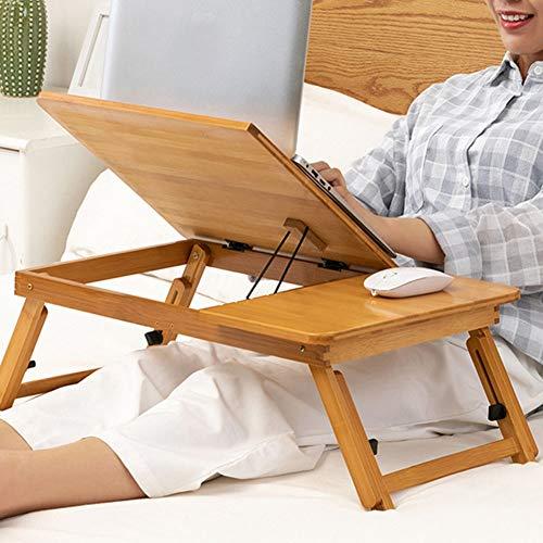 Opvouwbare draagbare laptoptafel in bamboe voor notebook, slaapbank, bank, dienblad
