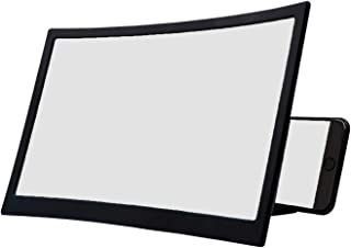 tecmac 12'' 3D Curved Screen Magnifier, HD Mobile Phone Screen Amplifier with Foldable Holder Stand for iPhone,Samsung, Al...
