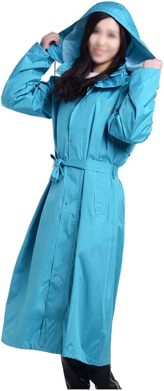 Wiederverwendbarer tragbarer Regenmantel mit rmeln und abnehmbarem Hut Leichter Regenmantel für Erwachsene (Farbe   Light Blau, Gre   M)