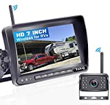 Yakry Y31 HD Digital Wireless Backup Camera for RVs,Trucks,Campers,Trailers,Motorhomes with 7'' Monitor Kit Rear View System High-Speed Observation IR Night Vision