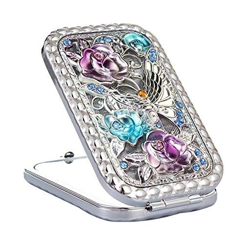 Maquillage cosmétique double face Miroir Creative Portable Mirror Silver-A4
