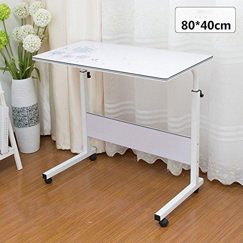 ZhuFengshop Laptoptafel, mobiele laptop, computerwagen, in grootte verstelbaar op wielen, voor bed en bank,