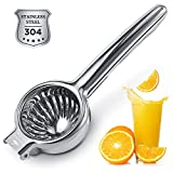 Lemon Squeezer Super High Quality Stainless Steel 304 Hand Press Juicer Manual Citrus for Juicing Lemon & Limes, Vegetables 2.3Inch Middle