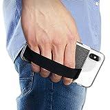 Ringke Flip Card Holder Porta Carte Adesivo Portafoglio con Cinghia Elastica Compatibile con Custodie per iPhone, Galaxy, Xiaomi, Huawei - Gray
