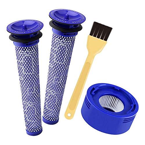 Juego de 3 filtros de vacío para aspiradora Dyson V7, V8 Animal Absolute sin cables, 2 filtros HEPA, 1 prefiltros, sustituye a la parte # 965661-01 & 967478-01