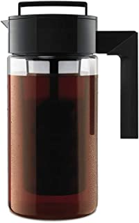Takeya 10310 Patented Deluxe Cold Brew Iced Coffee Maker with Airtight Lid & Silicone Handle, 1 Quart, Black