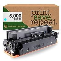 印刷。保存。繰り返します。HP cf411X ( 411X )シアン高イールドリサイクルトナーカートリッジm377、m452、m477[ 5, 000ページ]