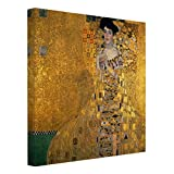 Bilderwelten Cuadro en Lienzo - Gustav Klimt - Portrait of Adele Bloch-Bauer I - Cuadrado 1:1, Cuadros Cuadro Lienzo Cuadro de Lienzo Cuadro sobre Lienzo Cuadro Decoracion, Tamaño: 120 x 120cm