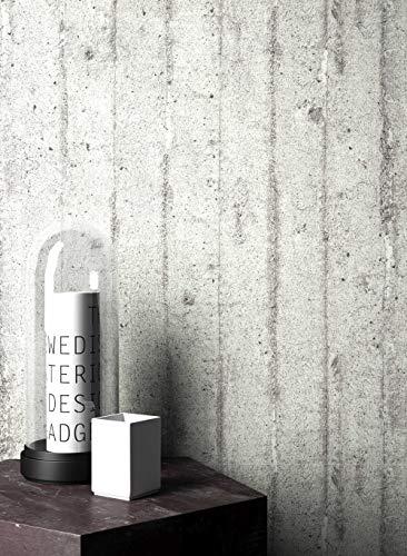 NEWROOM Tapete Grau Putz Beton Uni Vliestapete Vlies moderne Design Optik Tapete Premium inkl. Tapezier Ratgeber