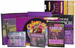 Rich Dad's Getting Rich Kit (3-Step Guide to Wealth, Cashflow Quadrant, Cashflow 101 3CD's, 3-Step Guide to Wealth Audio Program w/12 cd's, Debt Eliminator Calculator, Cashflow Rich Dad's Coaching Welcome Kit, and Cashflow 101 the Board Game)