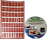 Over N Over, Reusable Glass Etching Stencils, Upper Case Letters + How to Etch & Patterns ...