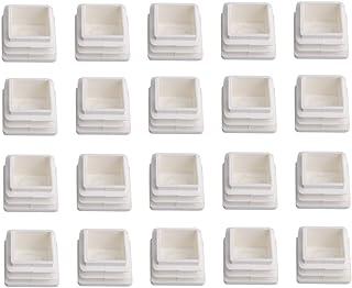 BQLZR - Tapones de plástico para tapones de tapones de tubo cuadrados, 20 unidades,