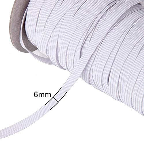 2.5cm 1 Metre 1 inch White Elastic 25mm Flat Woven Elastic Sewing Tailoring Dress Skirt Waist Band Art and Craft Premium Quality