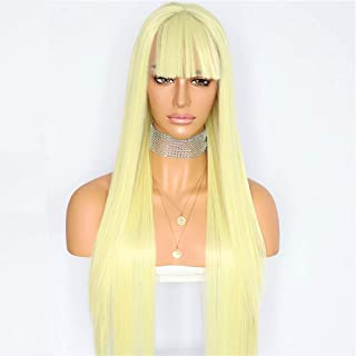 Sapphirewigs Yellow Color Silky Soft Straight Blogger Camgirl Wedding Hair Women Fashion Beauty Blogger Queen Daily Makeup...