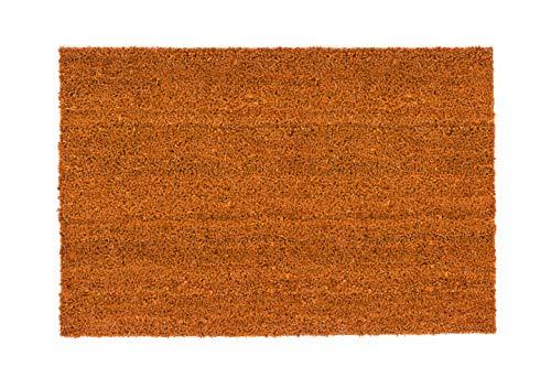 Carpido Alfombrillas de Coco Antideslizantes, antibacterianas, para Exteriores, Fibras Naturales sostenibles, 100 % Coco, 50 x 80 cm, Curry