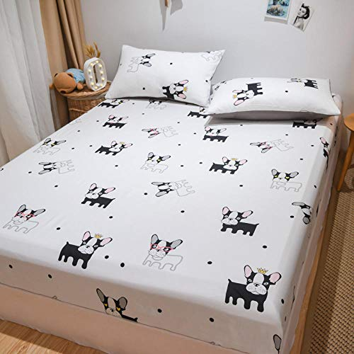 JRDTYS Non Iron Soft Poly-Cotton Plain Dyed Flat Bed Sheet Single, King AvailableThe bed cover is dustproof and one piece non-slip-13_180cmx200cm