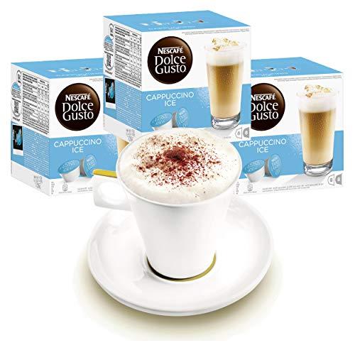 Nescafé DOLCE GUSTO Tassen Geschenkset, 3 Packungen mit Becher Cappuccino Ice, Kaffee, Eiskaffee, Kaffeekapsel, Kapseln