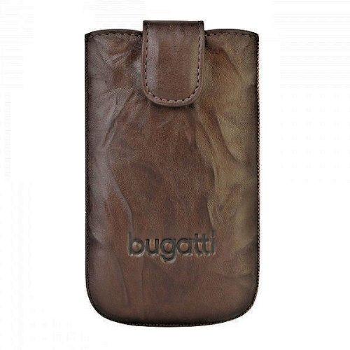 Original Bugatti Handy Leder Tasche - SlimCase Leather Unique - Farbe: Tobacco Brown - SL: 81 x 134 mm - für verschiedene Samsung Mobiltelefone