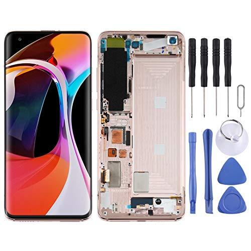 TKYY Pantalla LCD de ACDD y Montaje Completo de digitalizador con Marco para Xiaomi-MI 10 5G / MI 10 Pro 5G M2001J2G, M2001J2I (S versión) (Color : Gold)