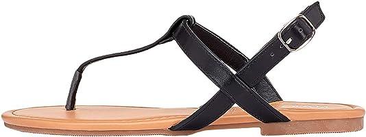 Marypaz, Sandali piatti moda estivi da donna, colore nero