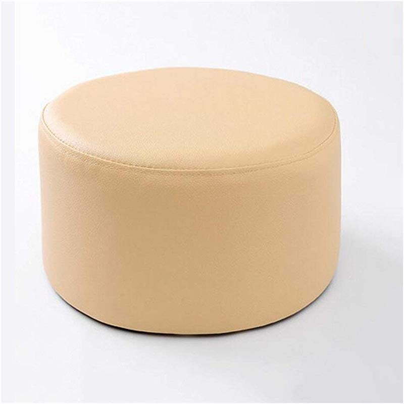 Carl Artbay Wooden Footstool Cream Color Stool Children S Leather Stool Home Changing His Shoes Stool Home