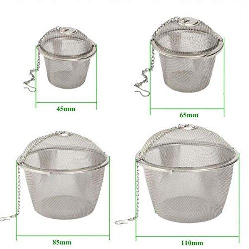 Generic Edelstahl Kugel Teefilter Gewürz Tee Sieb Mesh Filter - Silber, 8.5cm