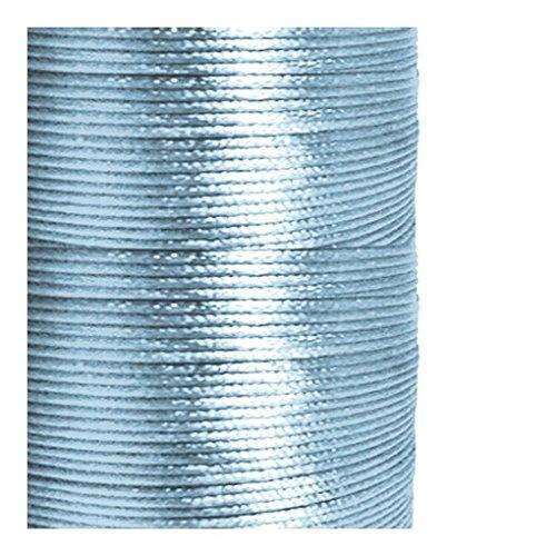 Cordon satin bleu clair 1 mm (Épaisseur) Longueur : 5 m