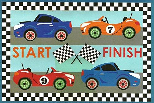 Start, Auto da corsa, per bambini, stanza-Tappetino antiscivolo