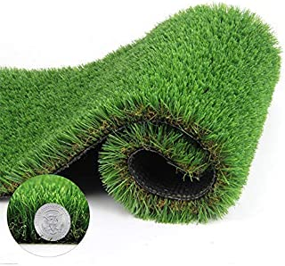 Artificial Grass Turf Thick Synthetic Rug Fake Carpet Mat Rubber Backed With Drainage Holes for Pet Dog Pad Indoor Outdoor Landscape 1.38 Inch Pile Height, 3.3' x 5' = 16.5 Sq Ft
